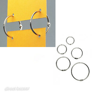 METAL SPLIT RINGS, Snap Clip, Oval, Plastic Round Hanging Ring