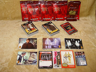HUGE BULK JOBLOT MIXED COLLECTION 150x STAR WARS COLLECTABLE TRADING CARDS