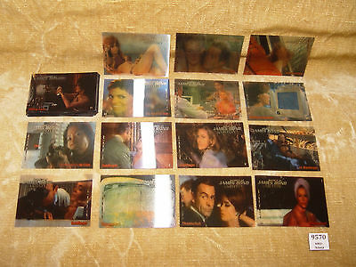 BULK JOBLOT 37x THE WOMEN OF JAMES BOND IN MOTION COLLECTABLE TRADING CARDS 007