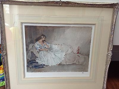 Sir William Russell Flint - The Looking Glass, Signed Limited Edition