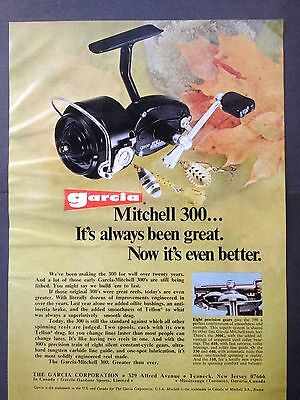 Vintage 1973 Ad (Odl12)~Garcia Mitchell 300 Fishing Reel