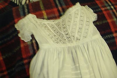 Edwardian, pretty, christening gown,36ins length, broiderie anglais bodice/skirt