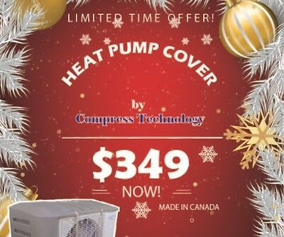 Heat Pump Cover Made in Canada by Compress Technology