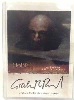 Cryptozoic the Hobbit Desolation Smaug autograph Graham McTavish DWALIN  card