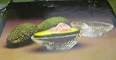 Dartington glass, 2 avocado dishes.
