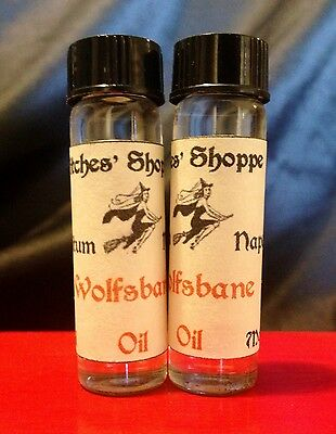 Wolfsbane Oil Large 10ml Aconite Monkshood RARE Wicca Witch Magic Herbal Goth