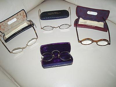 antique 4 pair spectacles with cases.