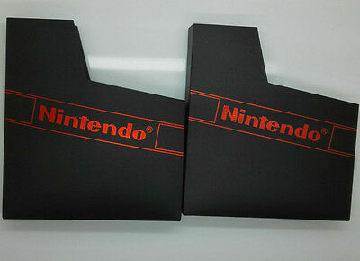 2 Pieces Black Matte Covers Protector For Nintendo NES Cartridge Dust Sleeve
