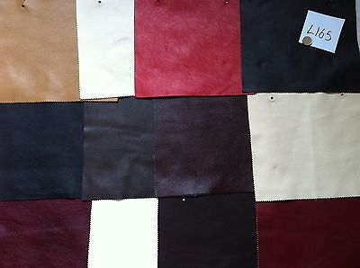 L165 Real leather 12 pieces. 10 x 8.5 inches mixed