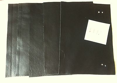 L172 Real leather 5 pieces. 11 x 6 inches black shades