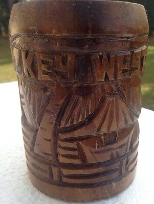 Wood Carved Key West Mug/ Cup