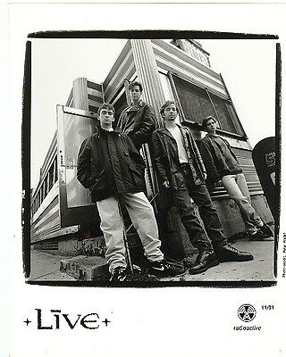 Live, Ed Kowalczyk, CLASSIC official 8x10 GLOSSY press photo! 1991, Chad Taylor