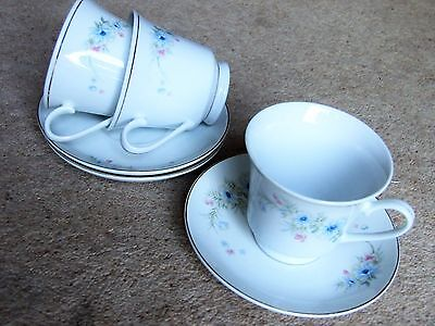 Three Cups & Saucers