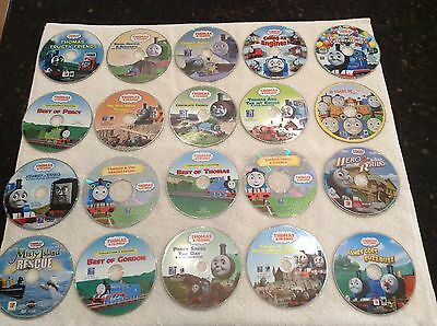 Thomas The Train And Friends Huge Lot Of 25 Different Dvd Movies Discs Only!