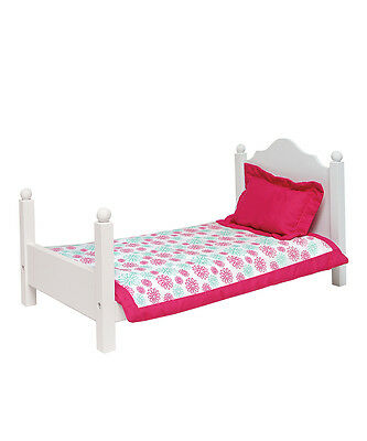 "SF Springfield BED & BEDDING for 18"" dolls American Girl Furniture Blanket NEW"