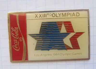 COCA-COLA /  OLYMPISCHE SOMMER SPIELE / LOS ANGELES 1984  .... Sport Pin (113d)