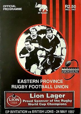 1997 British And Irish Lions V Eastern Province Rugby Programme