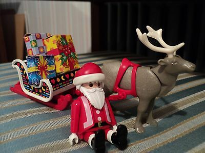 PLAYMOBIL Figure Santa Claus with Sleigh and Reindeer Christmas Winter Holiday
