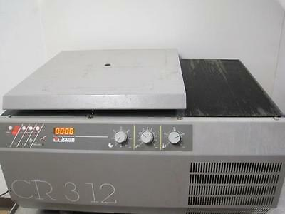 Jouan Benchtop Refrigerated Centrifuge Cr 312 6600 Rpm W/ Bucket Rotor + Inserts