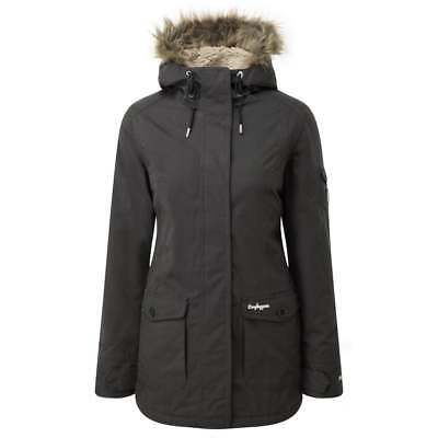 Craghoppers Womens Burley Waterproof Padded Parka Jacket in Charcoal Marl