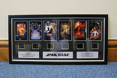 History of Star Wars Film Cell Frame / Print / Picture / Poster