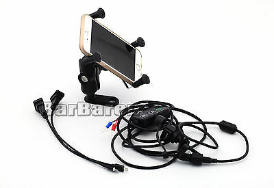 Navigation Bracket With USB Charge Port For BMW R1200GS R1200R S1000R S1000XR