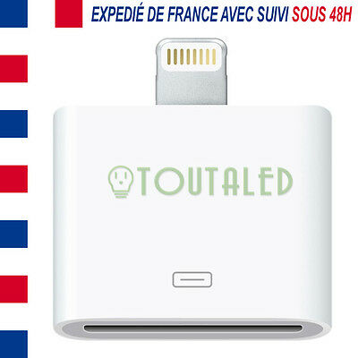Adaptateur 30 Pins Dock Vers 8 Pins Pour Charge Iphone 5 6 Ipad Ipod Vendeur Fr