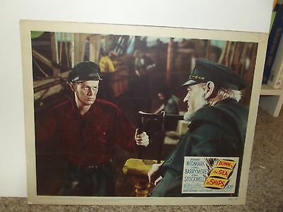 Down To Sea In Ships Stockwell Widmark Barrymore ORIGINAL lobby card 1949