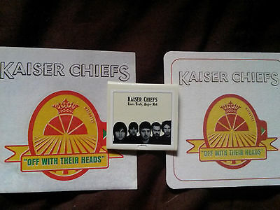 kaiser chiefs-3promos-matchbook YOURS TRULY+OFF WITH THEIR HEADSbeermatsticker