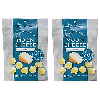 NEW Moon Cheese Crunchy Gouda 2PK Gluten-Free 100% Natural Protein Snack Calcium