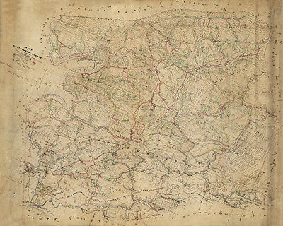 1864 Map of Montgomery County Virginia