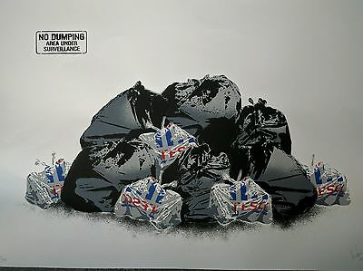 Dotmaster, Signed Limited Edition Screen Print on quality art paper! Banksy Can