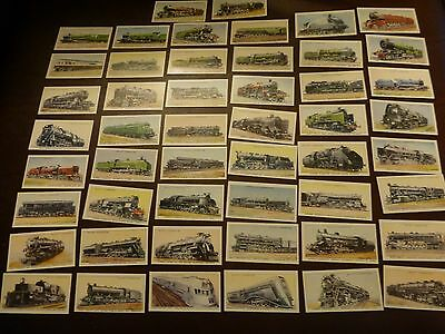 Wills Railway Engines Set Of 50 Cards Reproductions Ex/m Con