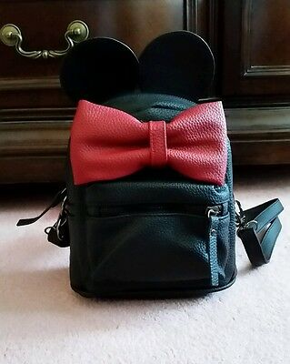 disney minnie mouse inspired red bow mini backpack