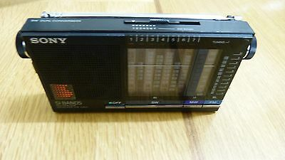 Super Rare Vintage Sony ICF-5100 FM/MW/SW 9 Band Receiver Radio
