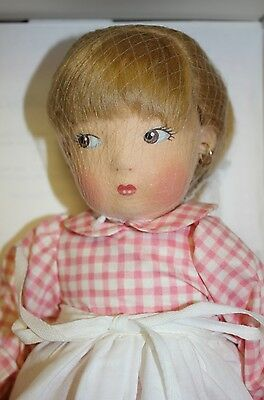 Rare Haut Melton Edith The Lonely Doll With Steiff Bear  And Book  #432 Of 740