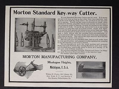 Antique 1902 Machinery Ad (E11)~Morton Mfg. Co. Muskegon Heights, Mich.