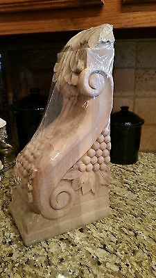 LARGE Wooden WOOD CORBEL SCULPTURE BEAUTIFUL Grapes  PATTERN NR