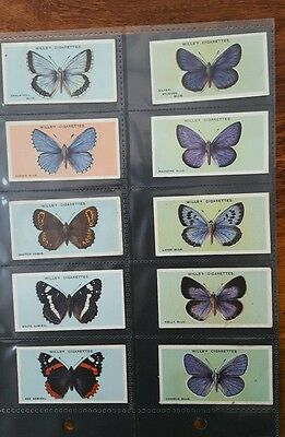 British Butterflies Set Of 50 Cigarette Cards 1927 Wills