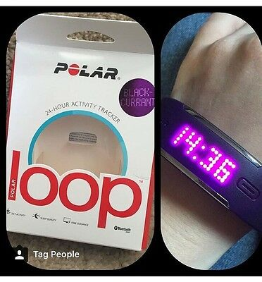 Polar Loop Watch in Blackcurrant. Excellent Condition