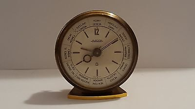 Jaeger-LeCoultre 8 Day World Time Alarm Table Desk Clock