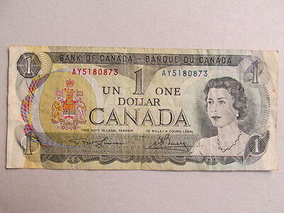 One Canada Dollar  bank note 1973