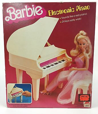 NEW Barbie ELECTRONIC PIANO Vintage 1981 Keys Play Music 80's
