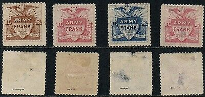 USA Army Frank Stamps (Mixed condition)