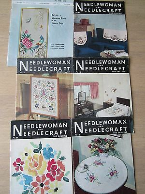 Vintage 6 x Needlewoman magazines dating from the late 1940's to 1970's.