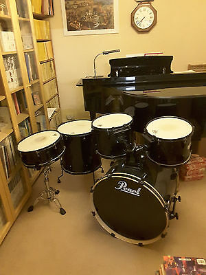 5 Piece Black Pearl Export Shells plus Snare Stand