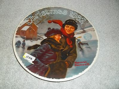 Knowles Christmas Courtship Norman Rockwell Christmas 1982 Plate