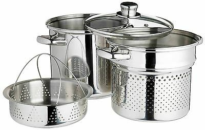 Kitchen Craft World of Flavours Italian Stainless Steel 4 L Pasta Pot with St...