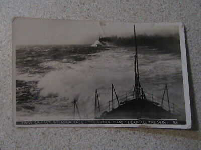 Hms Queen Mary First Cruiser Squadron Race Postcard