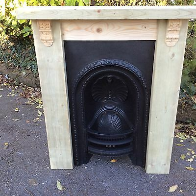 Original Victorian Cast Iron Bedroom Fireplace & Surround **Delivery Possible**